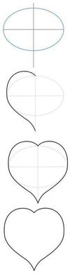 How to draw a heart in stages?